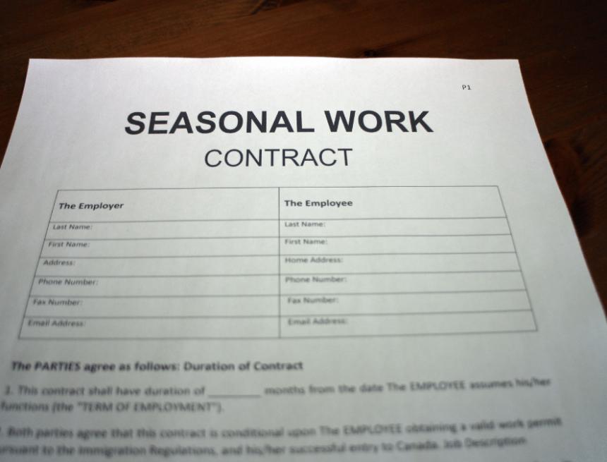 Contratti di lavoro stagionali